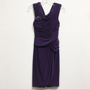 ADRIANNA PAPELL EVENING EMBELLISHED DRESS SIZE 8